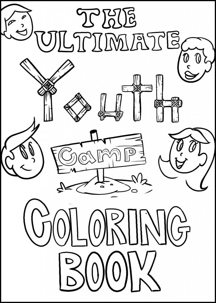 youth camp coloring book cover