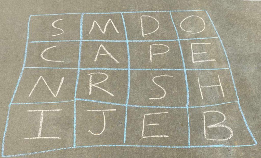 sidewalk chalk boggle