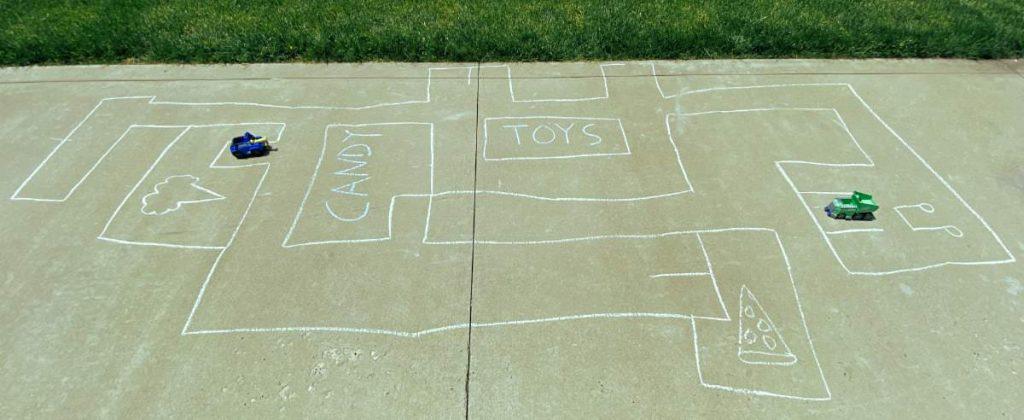 sidewalk chalk town game